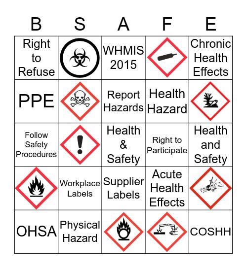 Health and Safety Awareness Bingo Card