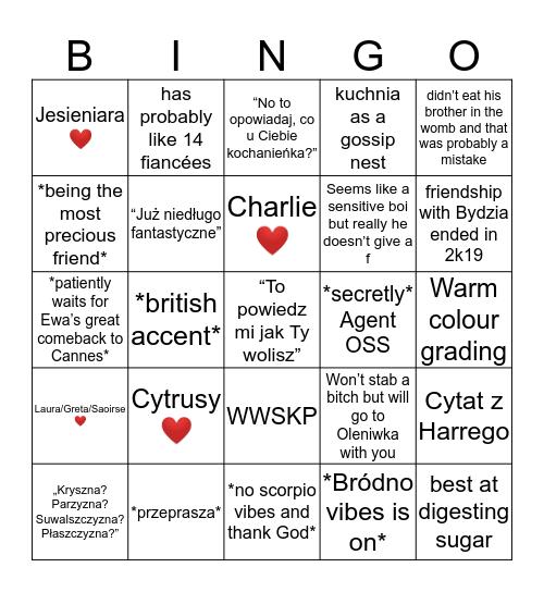 klasyczny Michał Bingo Card