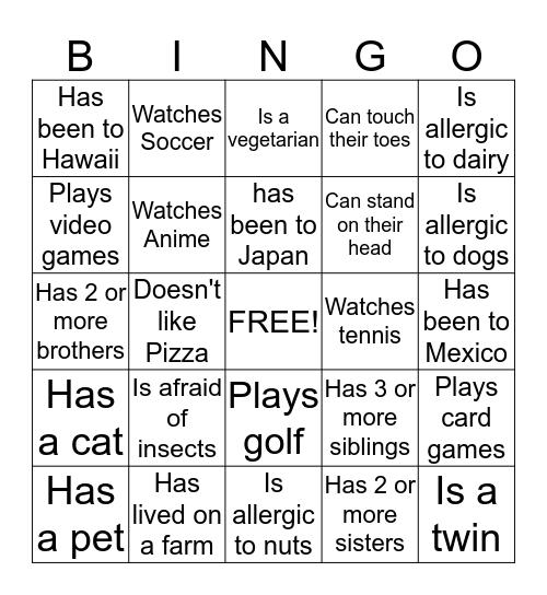 Council Programs Bingo Card