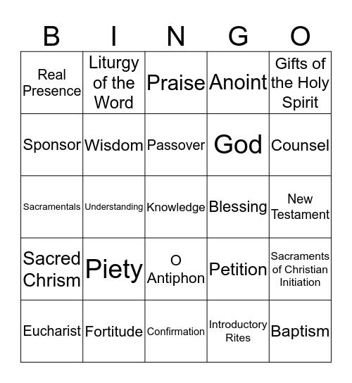 Unit 2 (Chapters 8-14) Bingo Card