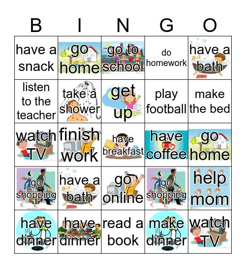Daily Routines Bingo Card