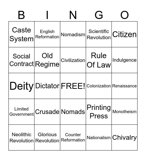 CARD 4 Bingo Card