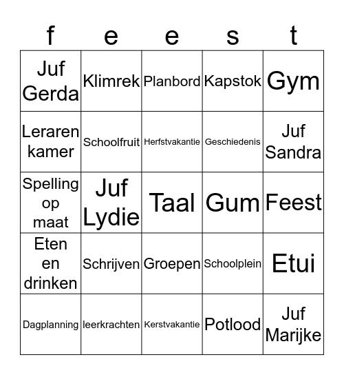 Het Grote Kompas Bingo Spel Bingo Card