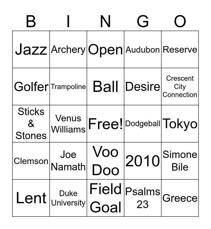 Tydell's Birthday Bingo Card
