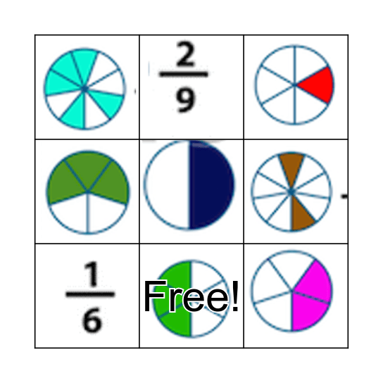 Fraction's BINGO  Bingo Card