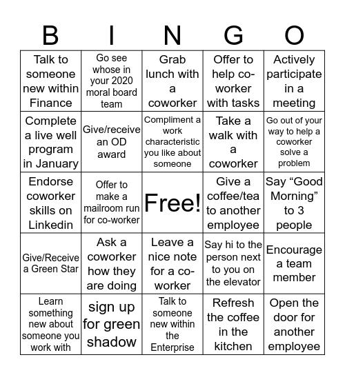 IB PAY IT FORWARD Bingo Card