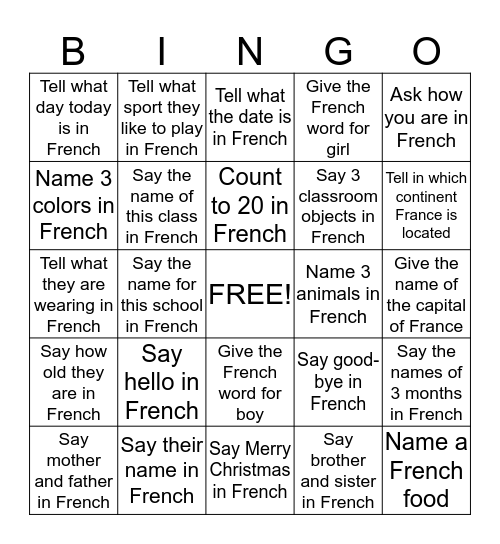 Find someone who can ... Bingo Card