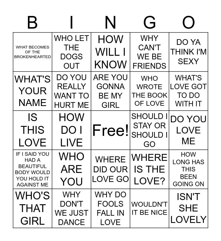 TAP IT CRAFTS QUESTION??? ROUND Bingo Card