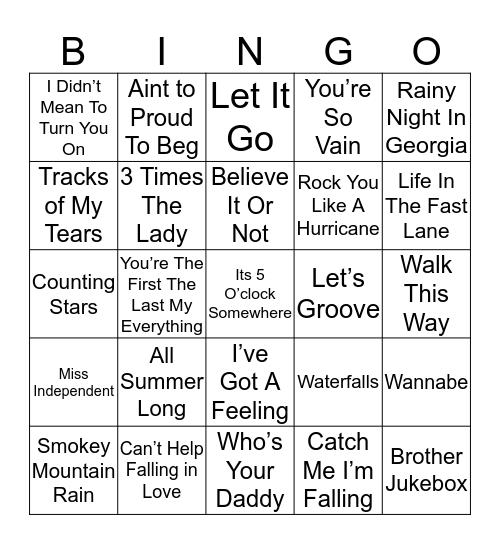 Music Bingo 14-14 Bingo Card