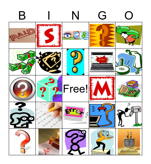 Payment Tracers 37648 Bingo Card