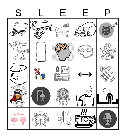 SLEEP Bingo Card