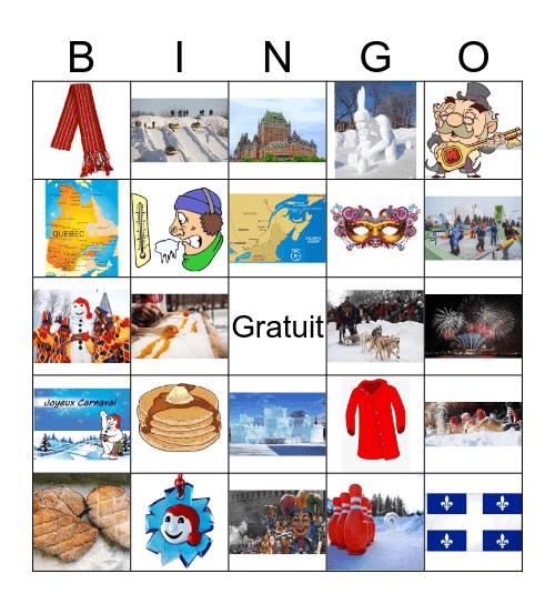 Carnaval de Quebec Bingo Card
