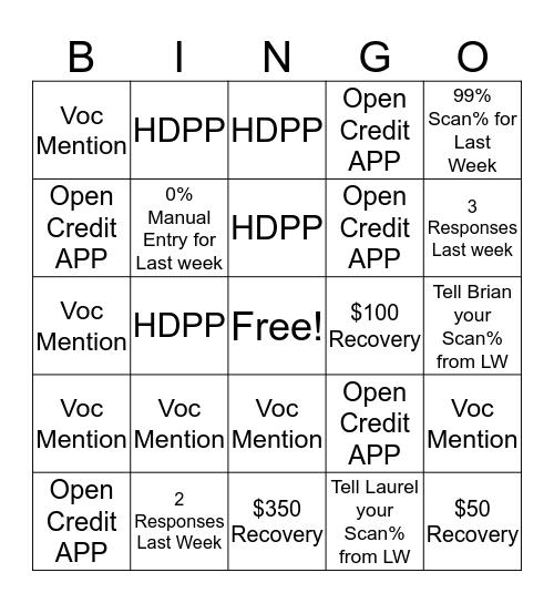 Front End Bingo! Bingo Card