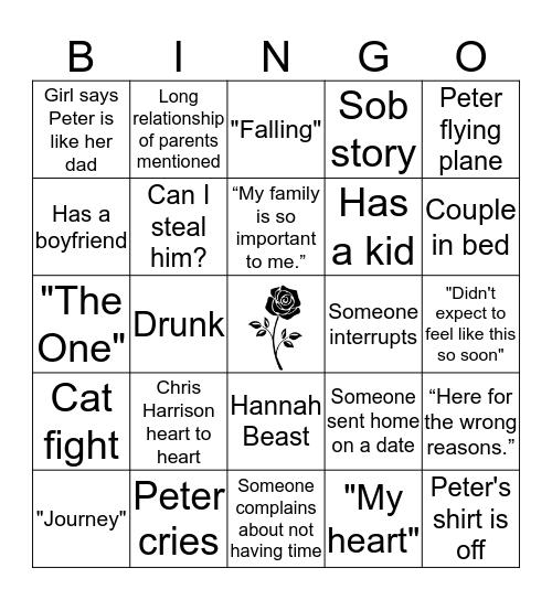 Bachelor 2020 Bingo Card