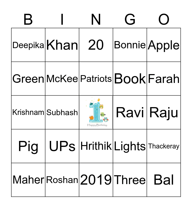 Happy Birthday Ayaan!! Bingo Card