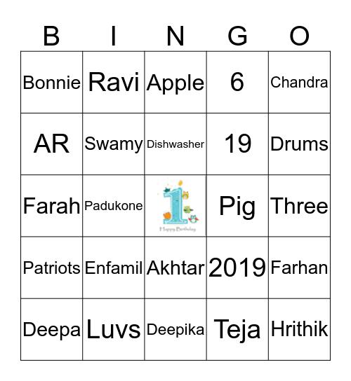 Hey!!  I am One!!! Bingo Card