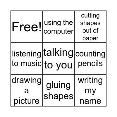 Classroom Bingo Card
