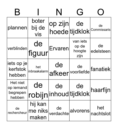 Thema 4 Verandering Bingo Card