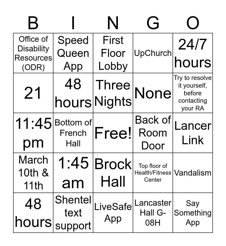 Did You Know Bingo Card