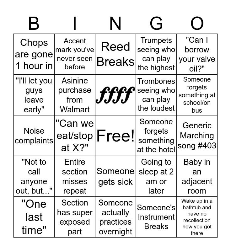 All-Region Bingo Card