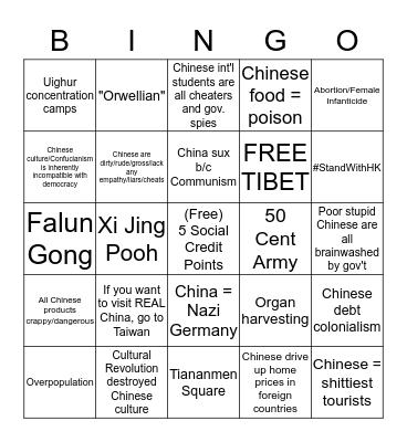 Reddit Discusses the PRC Bingo Card