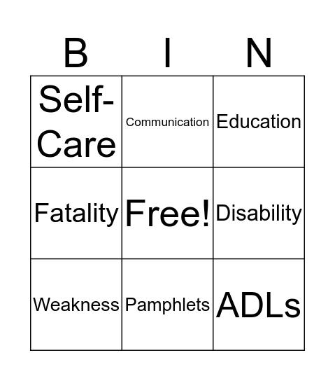 Self-Care Empowerment Bingo Card
