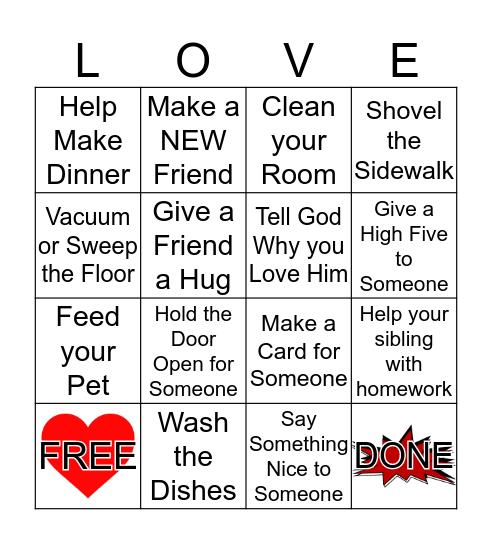 Love Month Bingo Card
