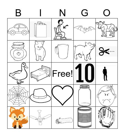 Phoneme Bingo Card