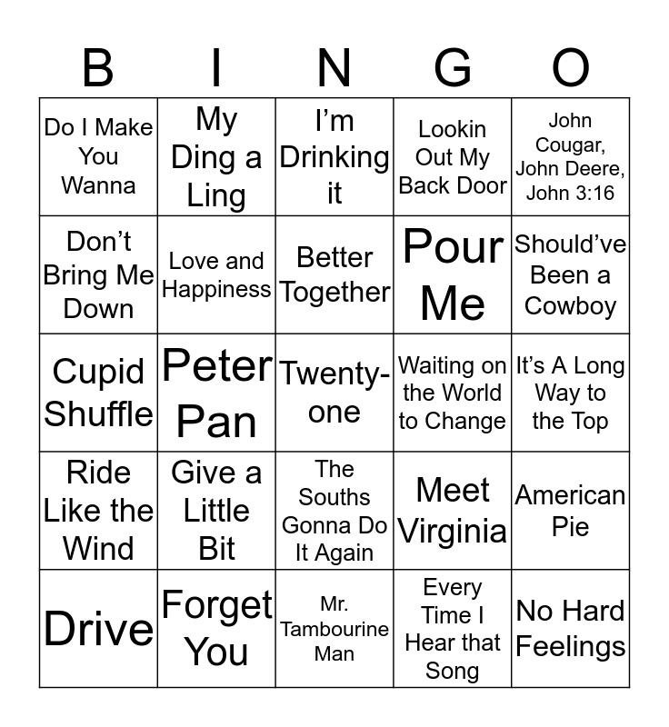 Music Bingo 22 Bingo Card