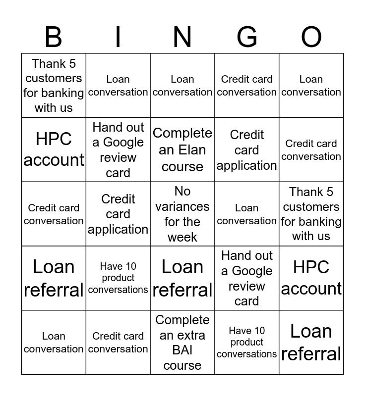 Location 20 Bingo Card