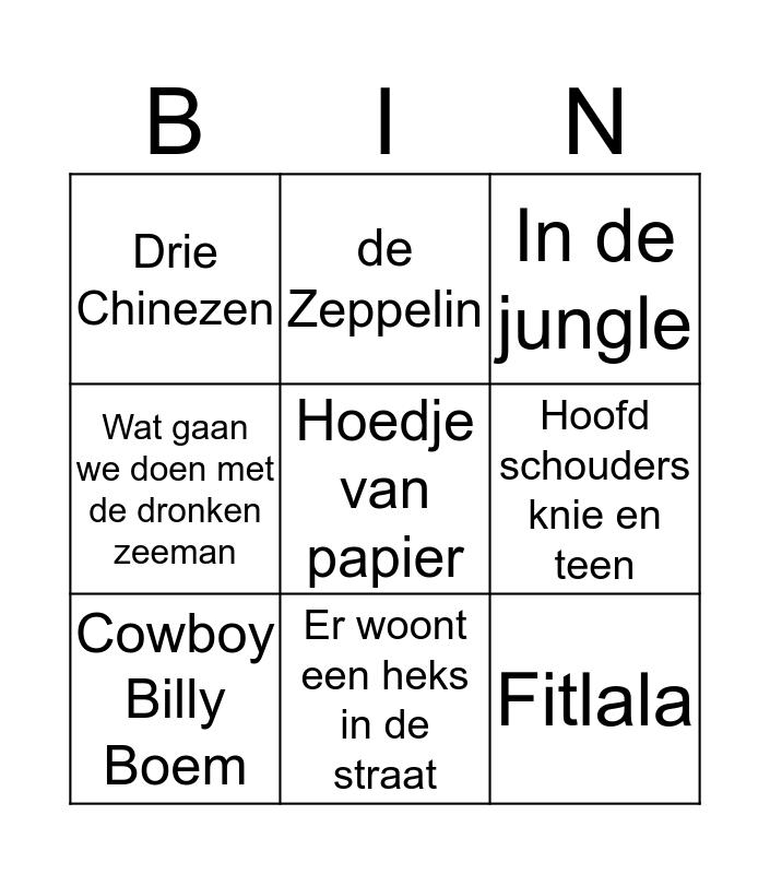 Bingo met de oma's 5 Bingo Card