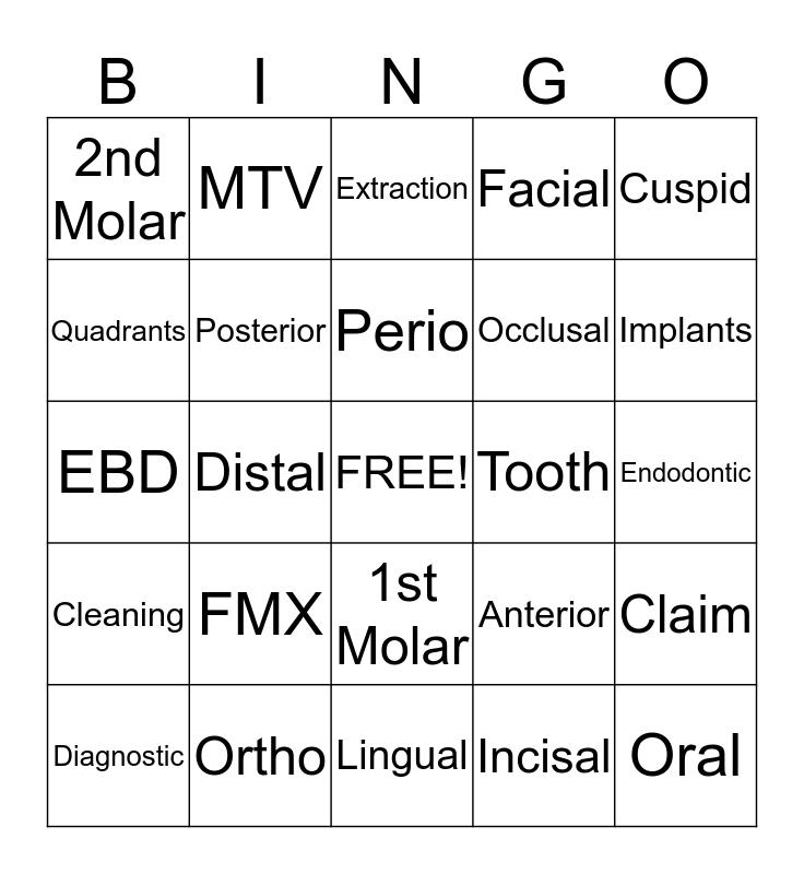 DDIC Bingo Card