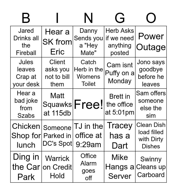 DJC BINGO Card