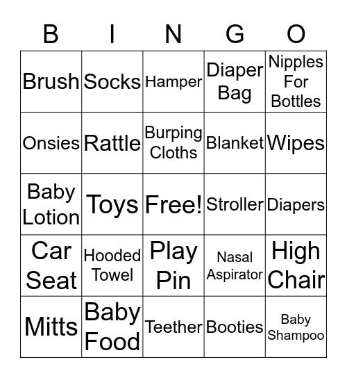 Baby On The Way Bingo Card