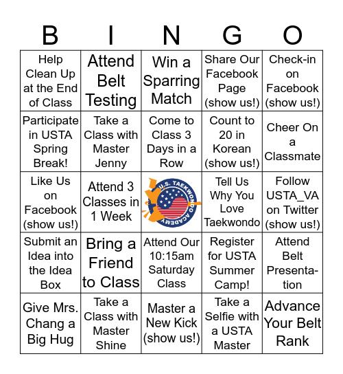 USTA Spring Bingo Card
