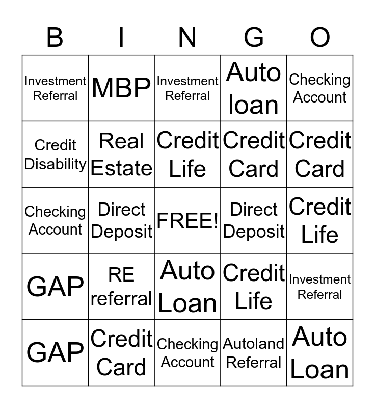 Carlsbad Fun Bingo Card