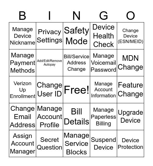 Smartlink BINGO Card
