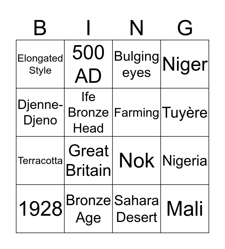Iron Age/Noks Bingo Card