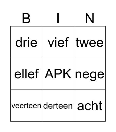APK 6-2-2020 Bingo Card