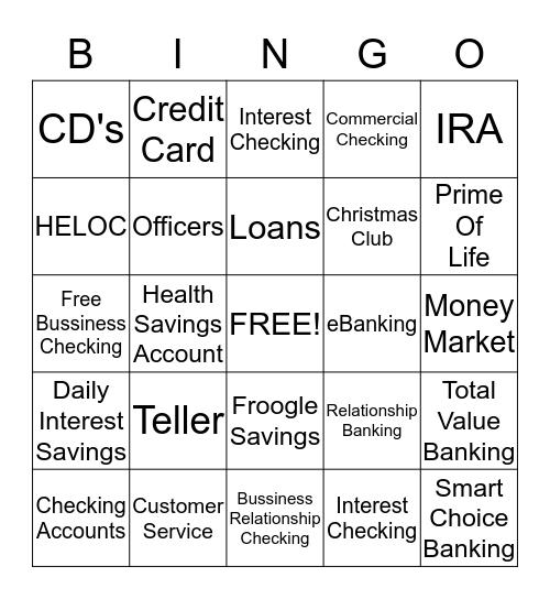 Trustmark Bingo Card