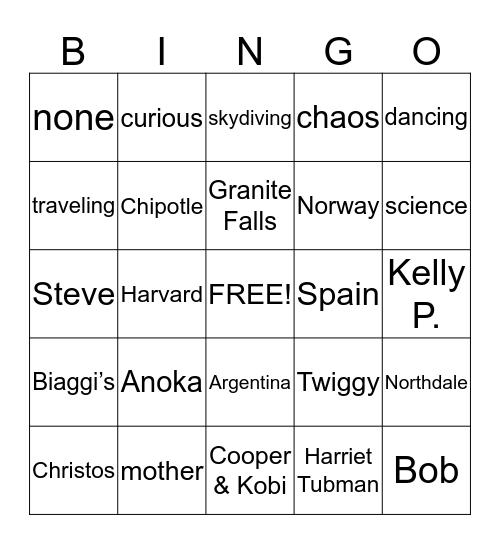 Bon Voyage Bingo! Bingo Card