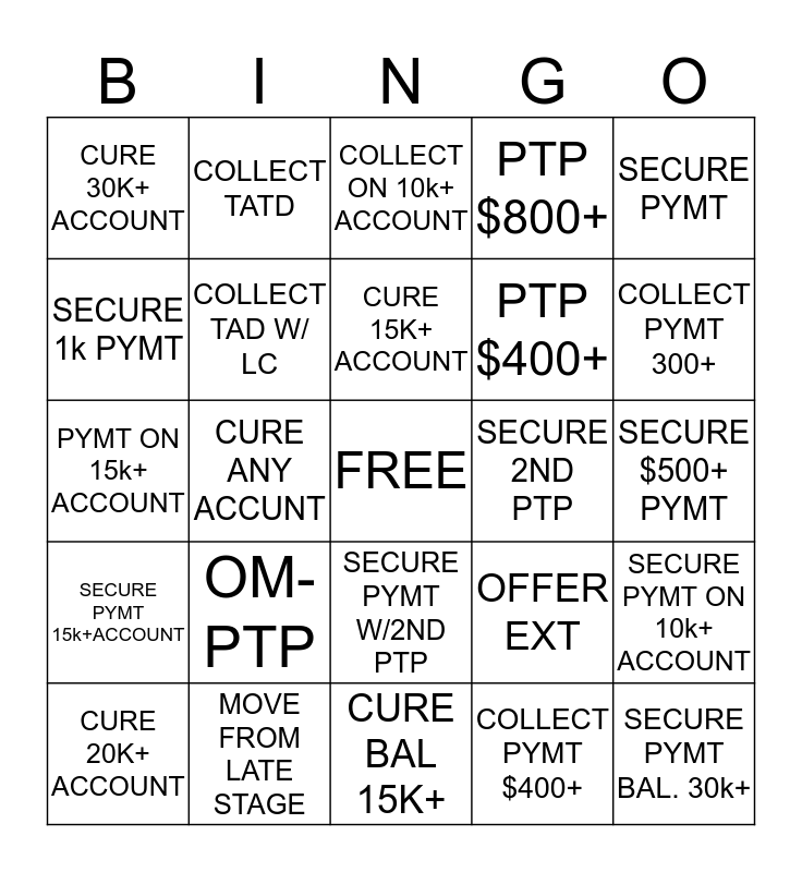 TEAM TORRES-LATE STAGE BINGO Card