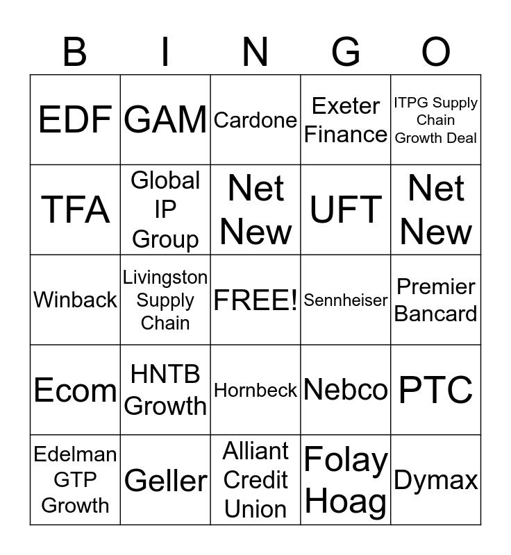 Amoux Pack Bingo  Bingo Card
