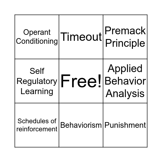 Chapter Terms Bingo Card