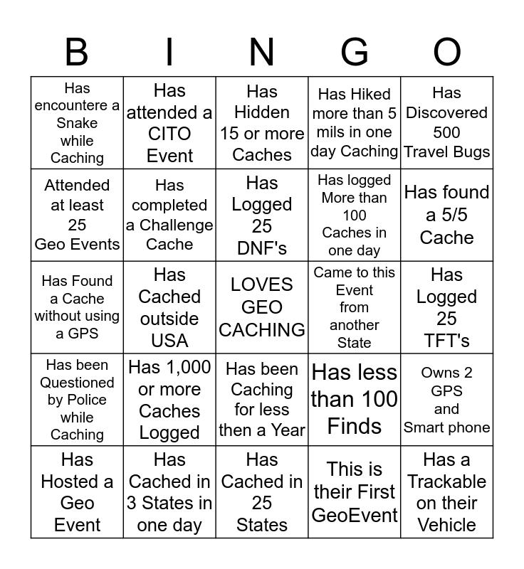 Geo BINGO-Mingle and Win! Bingo Card