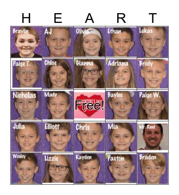 Valentines Day! Bingo Card