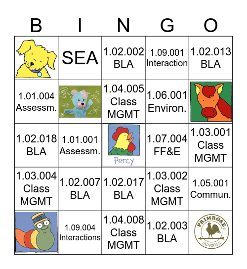 SEA Bingo Card