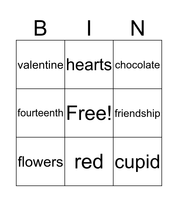 rainbows Bingo Card