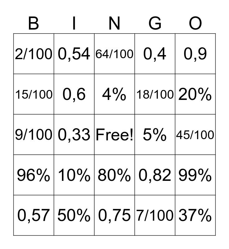 Number Bingo 1-75 Bingo Card