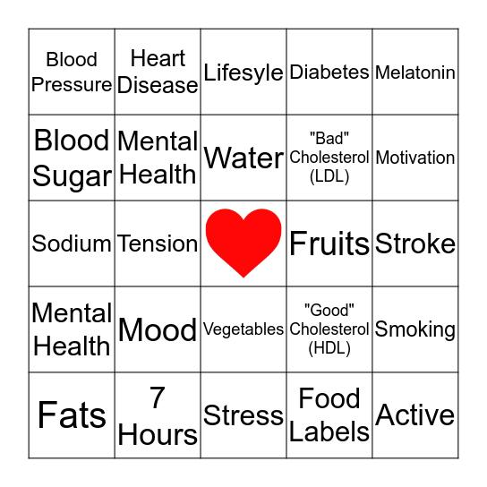 Heart Health Bingo  Bingo Card